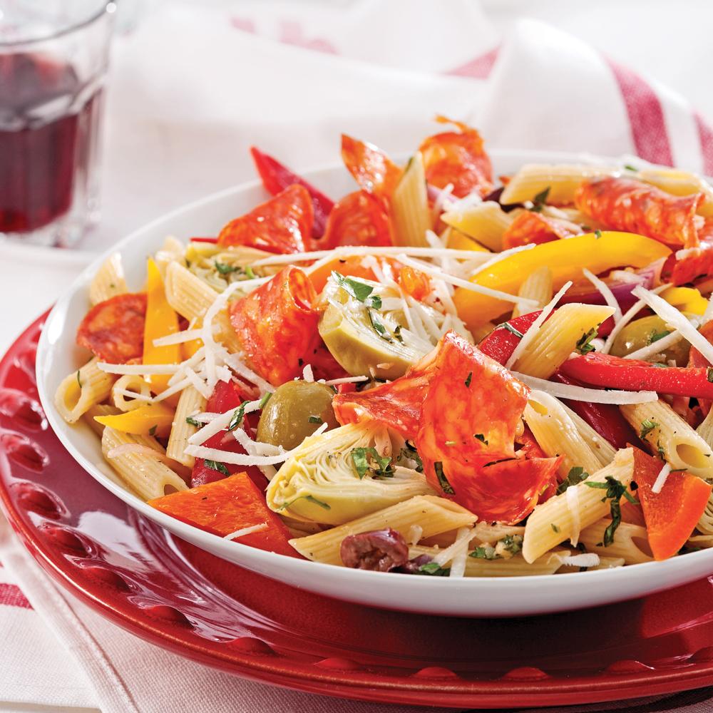 Salade de pâtes antipasto