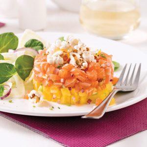 Tartare de saumon à l'ananas