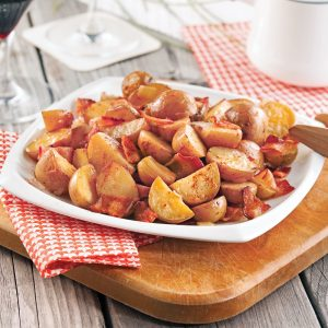 Pommes de terre grelots au bacon en papillote