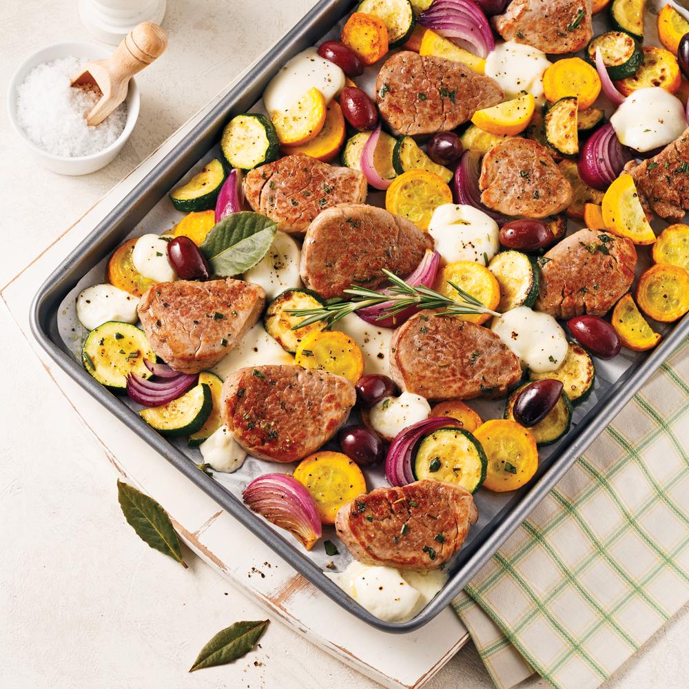 Filet de porc méditerranéen sur la plaque
