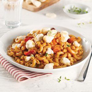 One pot pasta au bacon et fromage en grains