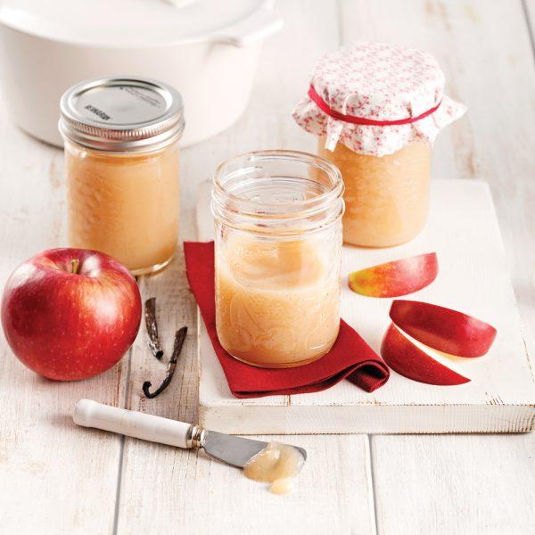 Compote de pommes vanillée