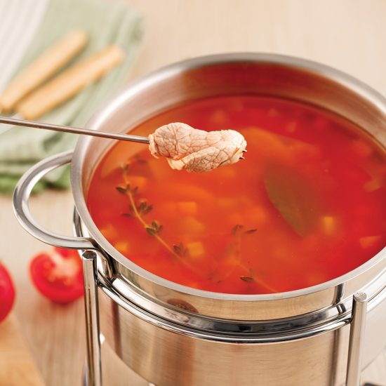 Bouillon pour fondue épicé