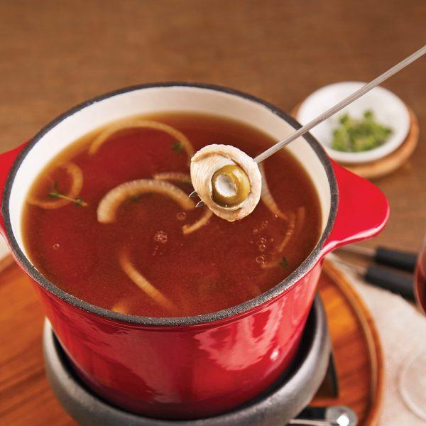 Bouillon pour fondue bœuf et oignon