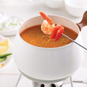 Bouillon pour fondue aux fruits de mer