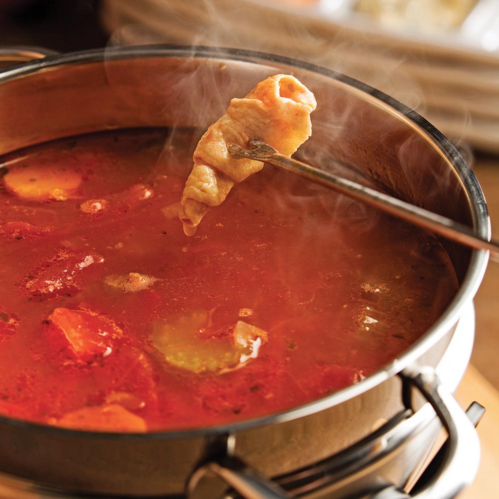 Bouillon pour fondue arrabbiata