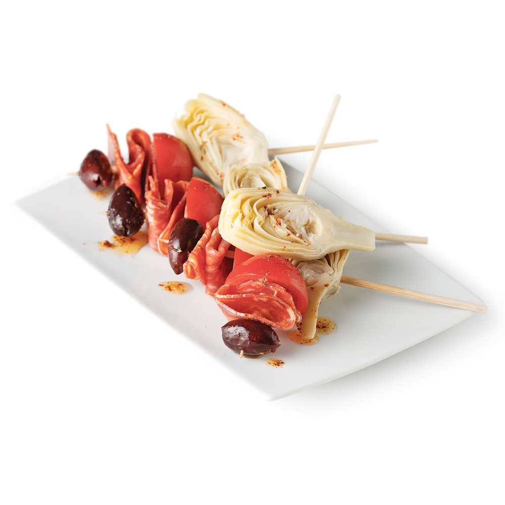 Mini-brochettes antipasti