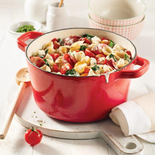 One pot de coquilles aux tomates séchées et cacciatore