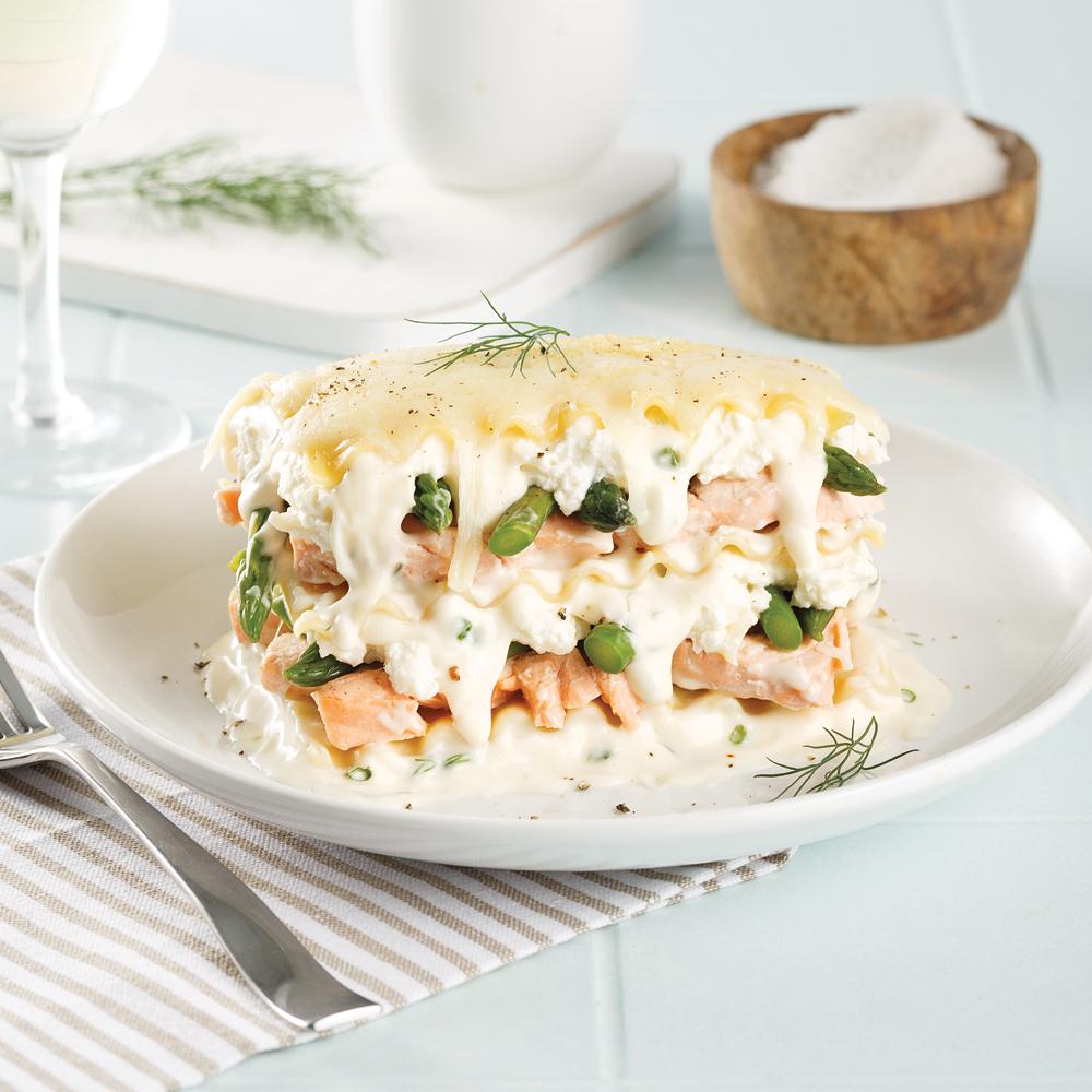 Lasagne au saumon à la mijoteuse