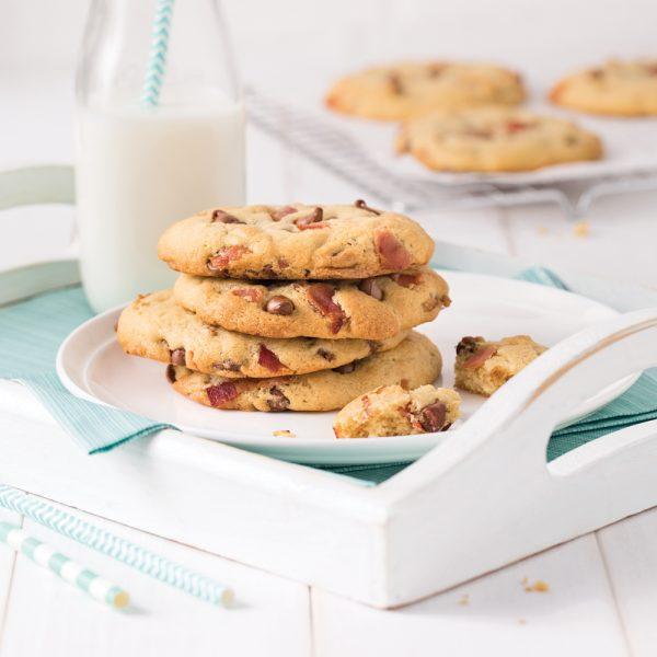 Biscuits aux pépites de chocolat et bacon