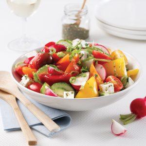 Salade de légumes estivale