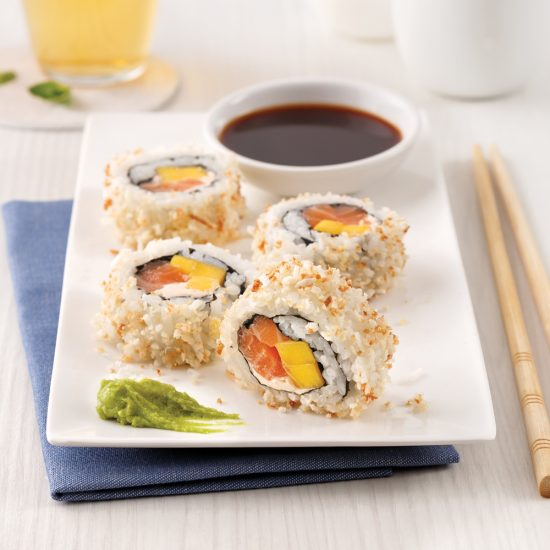 En étapes: Makis inversés au saumon