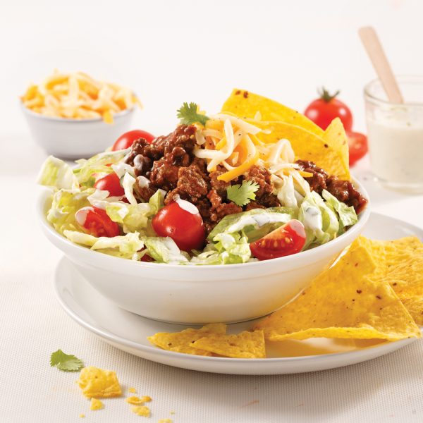 Salade tacos au boeuf haché