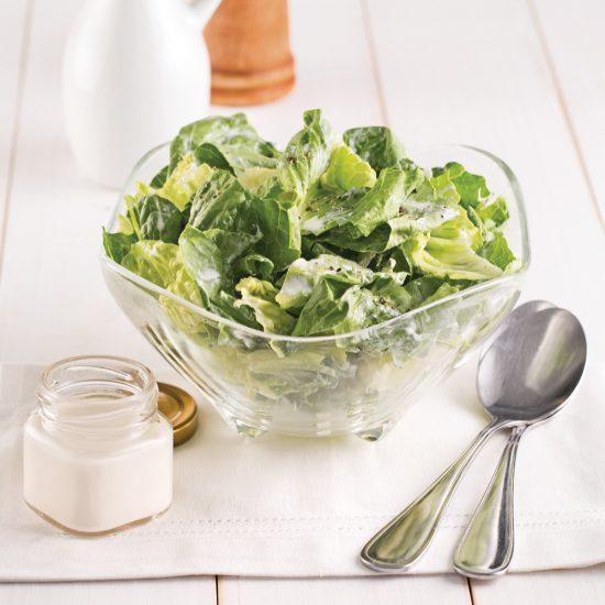 Salade verte à la crème