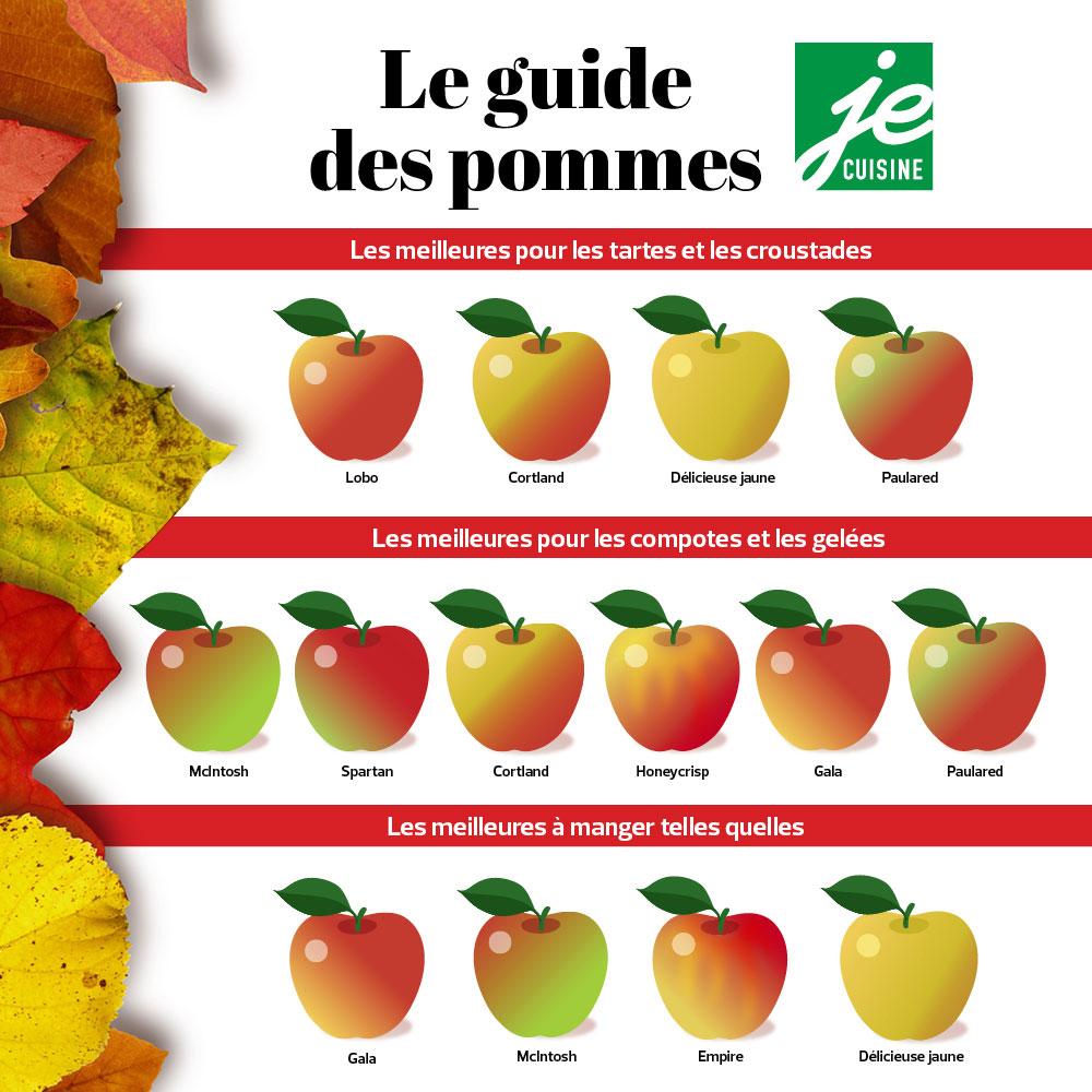 Quelle pomme utiliser pour mes recettes?