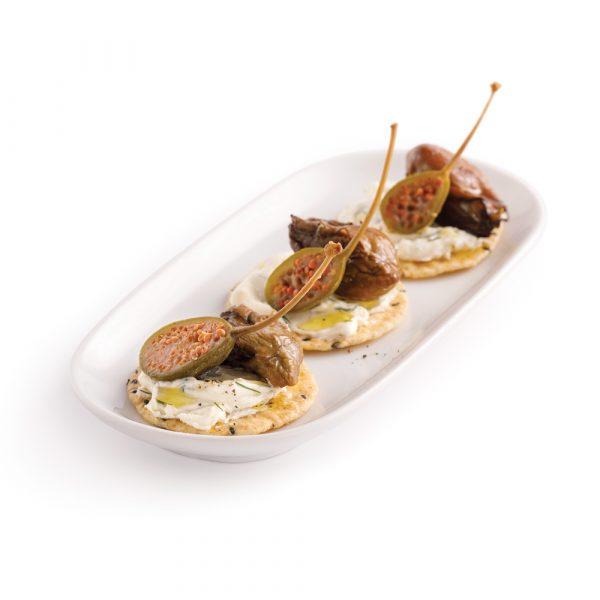 Croustillants aux huîtres fumées et mousse au fromage