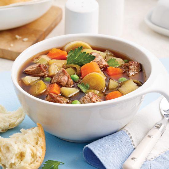 Soupe-repas au boeuf et légumes