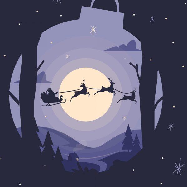6 cartes de Noël à imprimer!