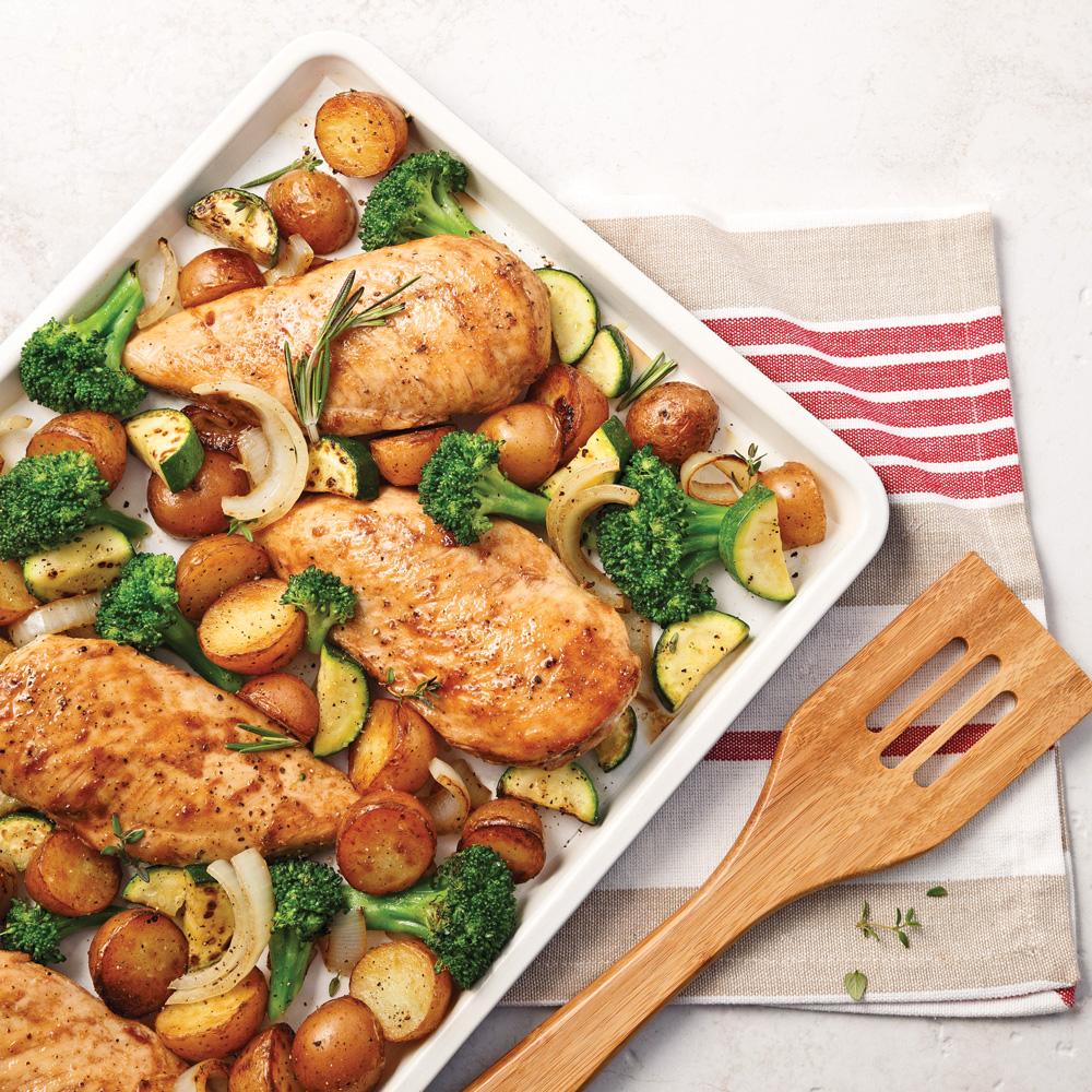 Poitrines de poulet, sauce sucrée au vinaigre balsamique