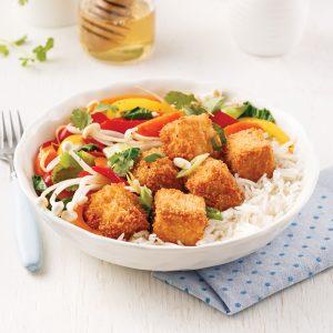 Tofu croustillant miel et ail