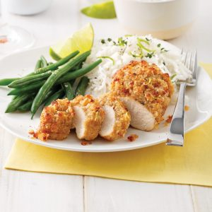 Poitrines de poulet en croûte de parmesan