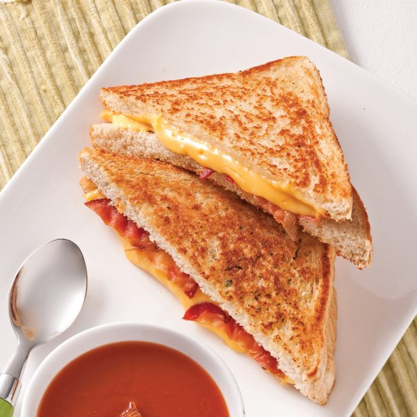 Grilled cheese au bacon