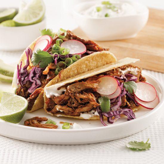 Tacos de porc effiloché à la bière noire à la mijoteuse
