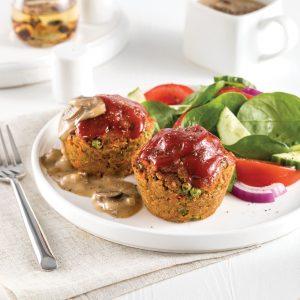 Pains de viande de cretons Boréal, sauce aux champignons