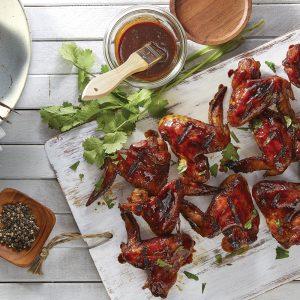 Ailes de poulet BBQ, lime et gingembre