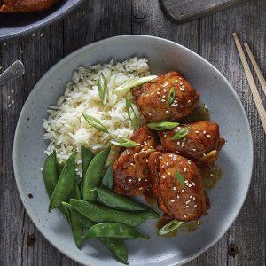Hauts de cuisses de poulet façon oriental