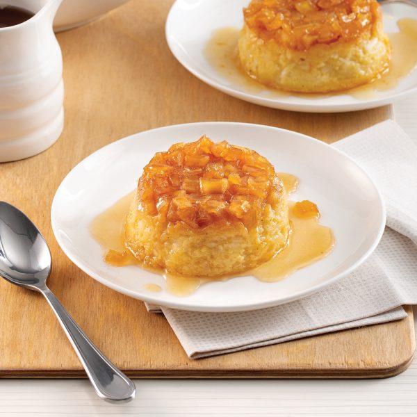 Gâteaux renversés au riz au lait et aux pommes