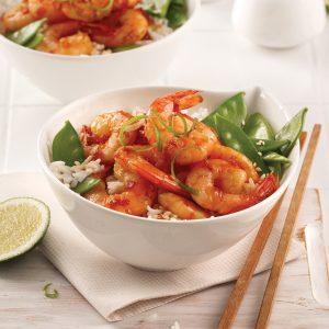 Crevettes à l'ail sucrées-salées