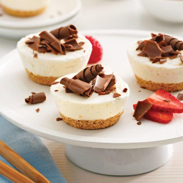 Mini-cheesecakes sans cuisson