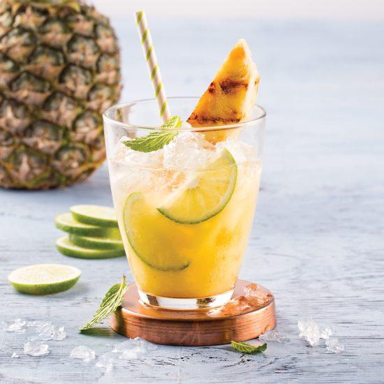 Mojito revisité à l'ananas caramélisé