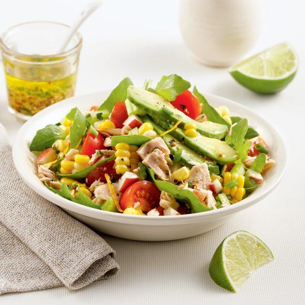 Salade de thon, pommes et maïs