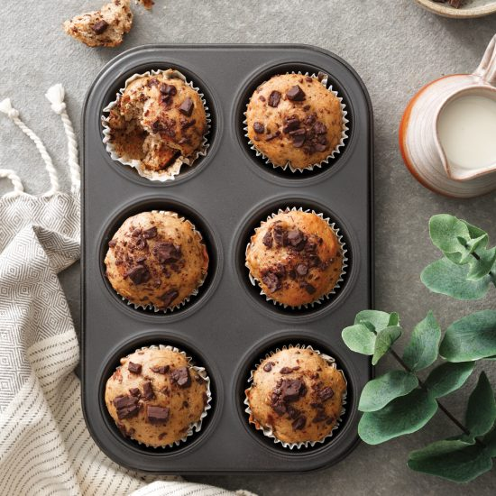 Muffins choco-bananes véganes
