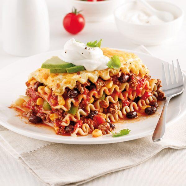 Lasagne mexicaine à congeler