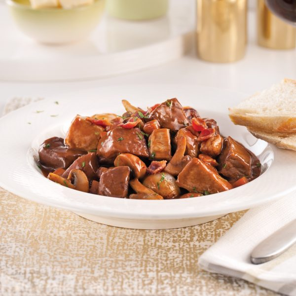 Ragoût de boeuf et porc bourguignon