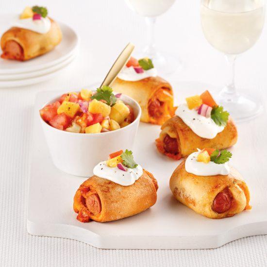 Croissants-saucisses style tacos