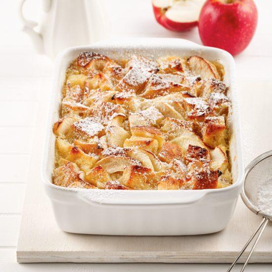 Pouding au pain et aux pommes