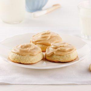 Galettes blanches au sucre à la crème