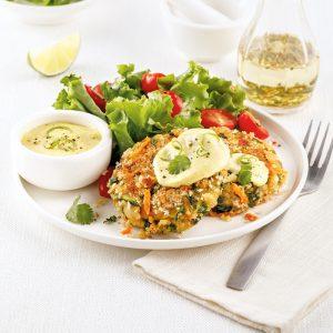 Croquettes de pois chiches et légumes