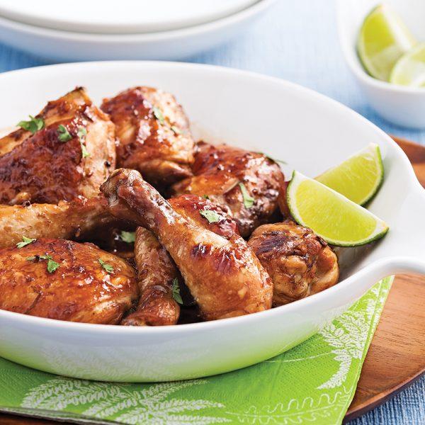 Cuisses de poulet miel et lime à congeler