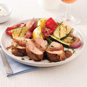 Filet de porc, sauce balsamique et érable