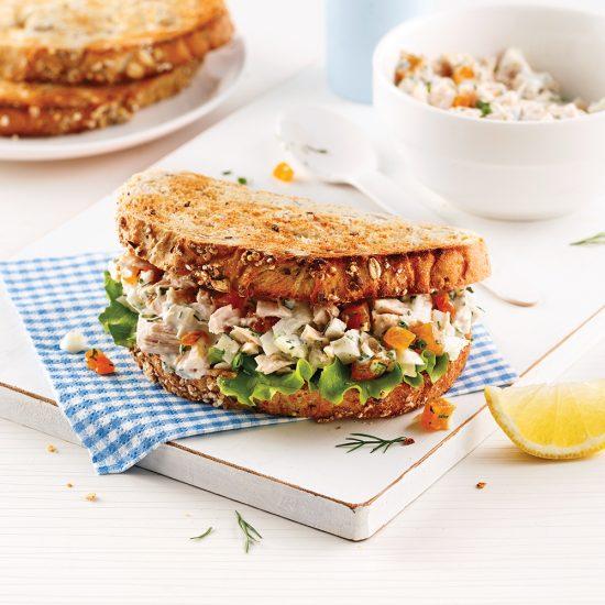 Garniture à sandwich au thon et au fenouil