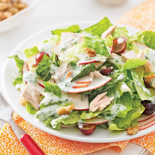 Salade Waldorf au thon