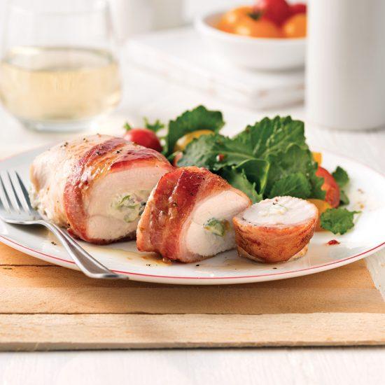 Poulet aux asperges et bacon