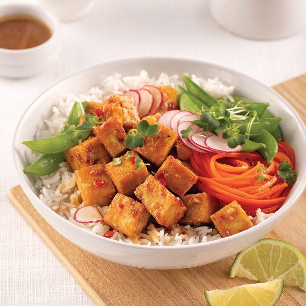 Bol de tofu à l'asiatique