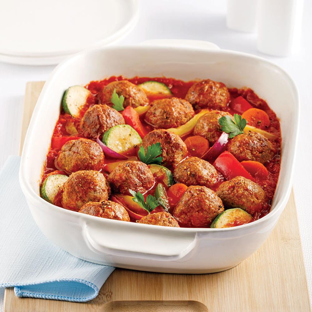 Casserole de boulettes et légumes à congeler
