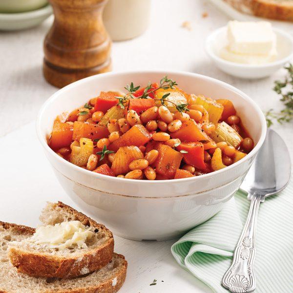 Mijoté de haricots blancs et légumes au paprika fumé